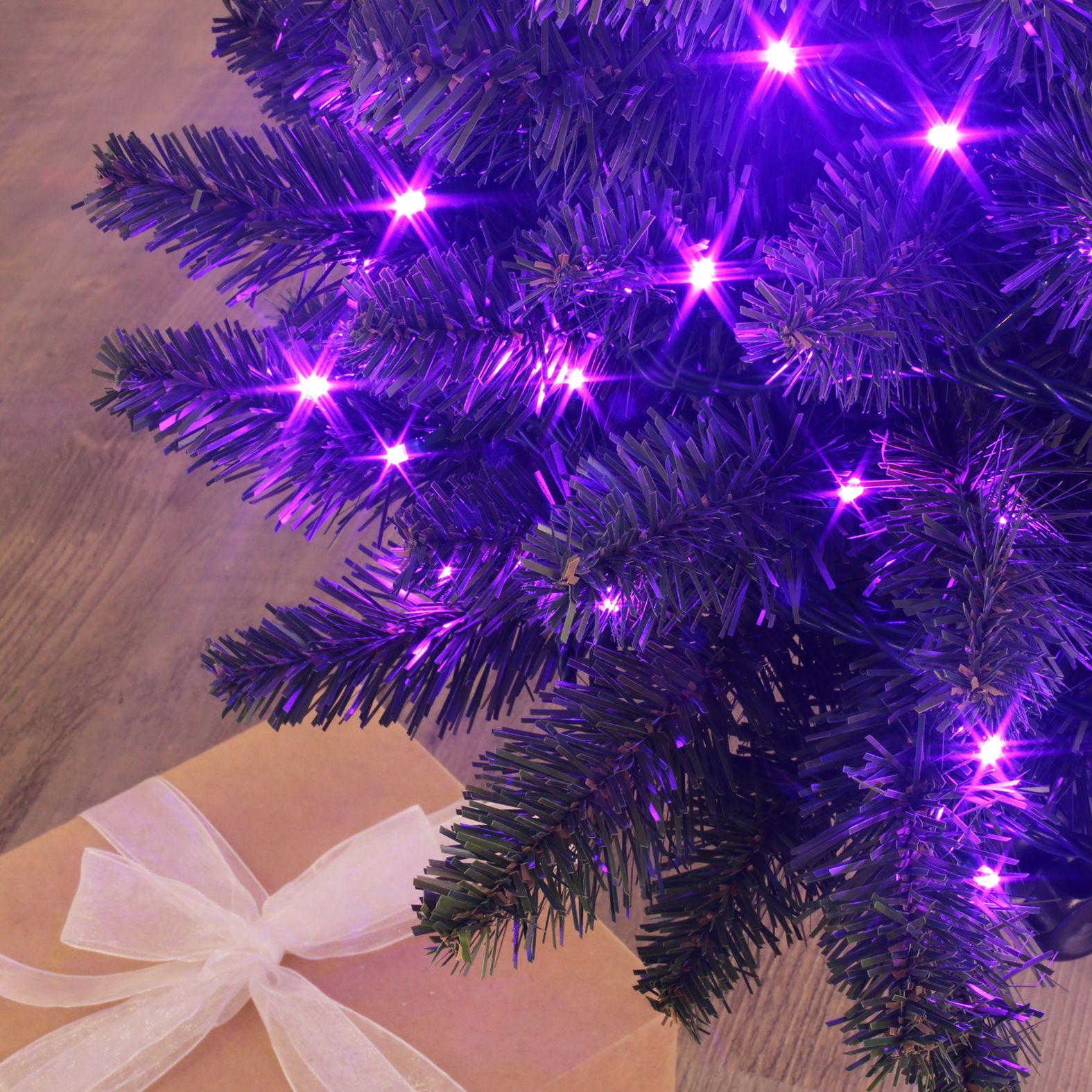 guirlande lumineuse 8 m violet 128 led cv guirlande lumineuse eminza. Black Bedroom Furniture Sets. Home Design Ideas