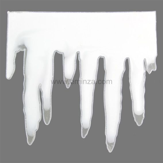 Guirlande de fen tre stalactite blanc decoration de for Decoration fenetre de l avent