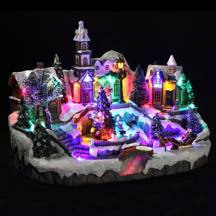 village de no l lumineux rivi re magique village de no l lumineux eminza. Black Bedroom Furniture Sets. Home Design Ideas