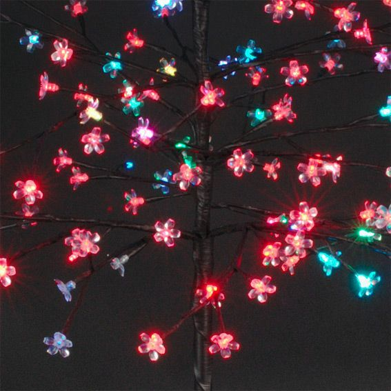 Arbre lumineux marguerite multicouleur arbre lumineux - Arbre lumineux exterieur noel ...