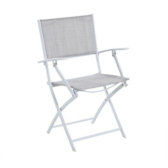 Fauteuil de jardin modula gris chin blanc chaise et - Fauteuil de jardin la redoute ...