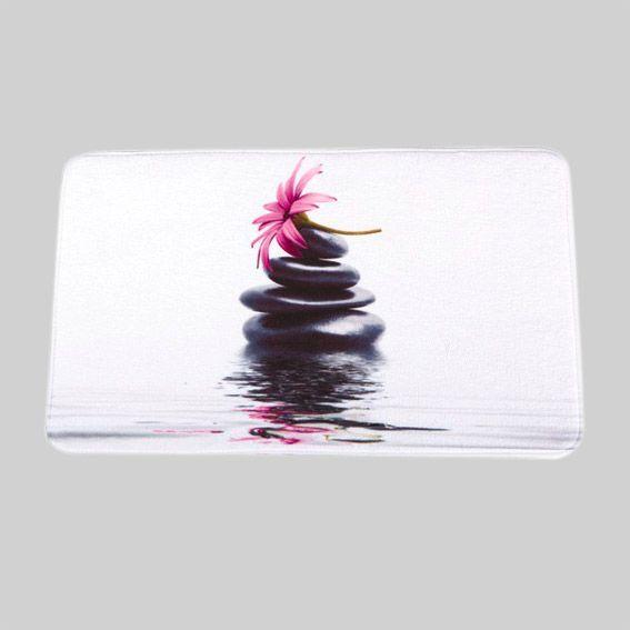 tapis de bain galets rose tapis salle de bain eminza. Black Bedroom Furniture Sets. Home Design Ideas