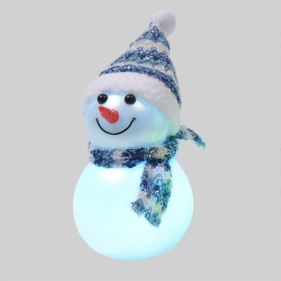 Bonhomme de neige lumineux james bleu d co de table - Bonhomme de neige polystyrene ...