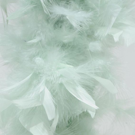 Guirlande de no l boa en plume menthe guirlande de sapin eminza - Guirlande plume blanche ...