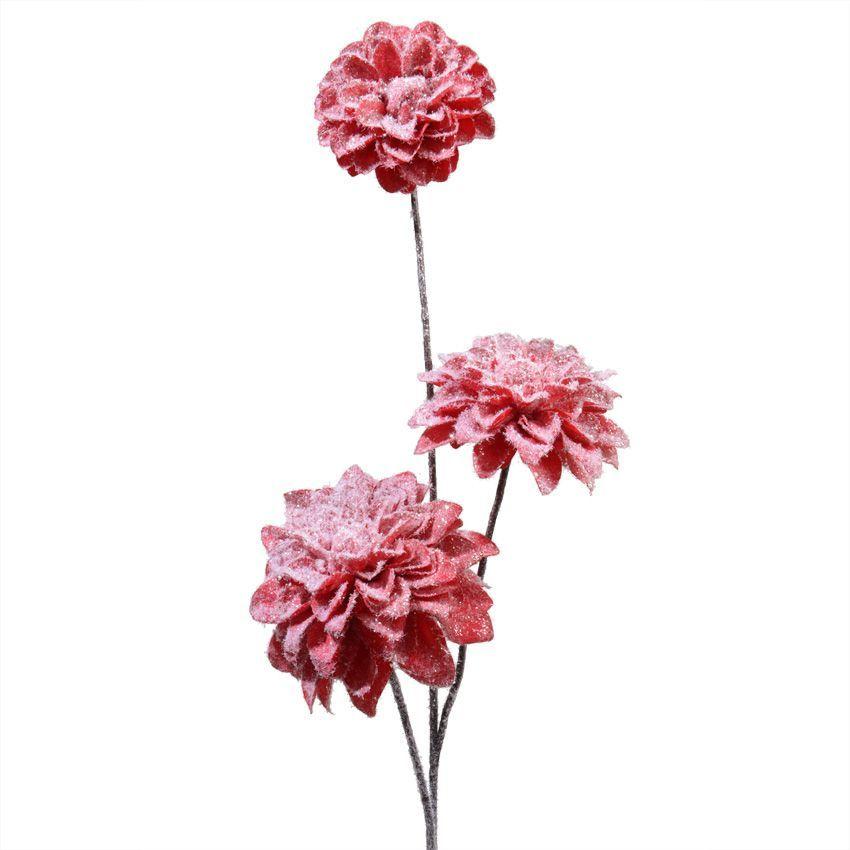 fleur de no l sur tige wenglery rouge fleur et branche d 39 hiver eminza. Black Bedroom Furniture Sets. Home Design Ideas