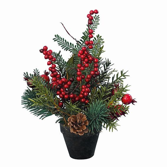 Composition florale de no l traditionnelle grand format for Decoration florale noel