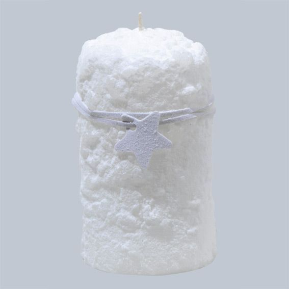 petite bougie des glaciers blanc decoration de table eminza. Black Bedroom Furniture Sets. Home Design Ideas