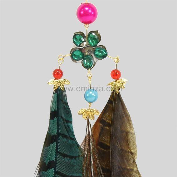 suspension plume aurore vert d coration suspendre eminza. Black Bedroom Furniture Sets. Home Design Ideas