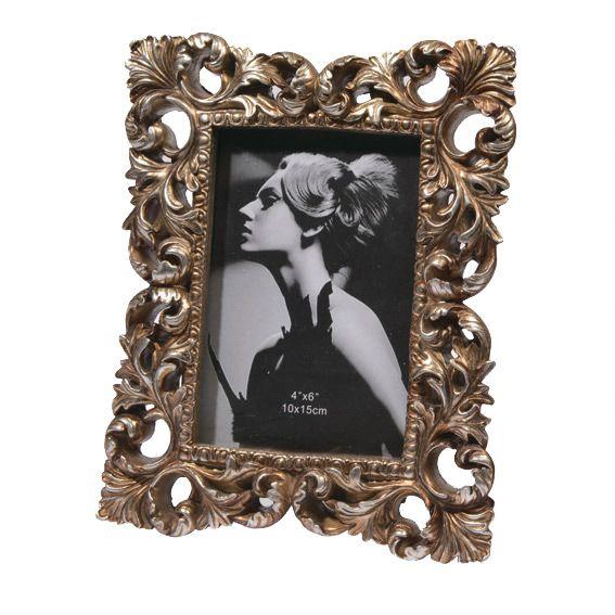 cadre photo vintage lisa or el ment de d co eminza. Black Bedroom Furniture Sets. Home Design Ideas