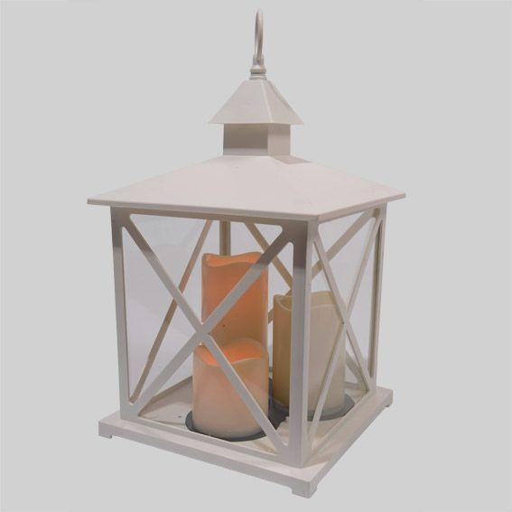 grande lanterne antique blanc guirlande lumineuse eminza. Black Bedroom Furniture Sets. Home Design Ideas