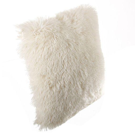 coussin fausse fourrure 40 cm sib rien ecru coussin et housse de coussin eminza. Black Bedroom Furniture Sets. Home Design Ideas