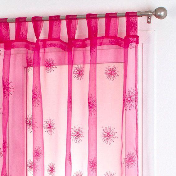 voilage 140 x h240 cm chardon framboise voilage eminza. Black Bedroom Furniture Sets. Home Design Ideas