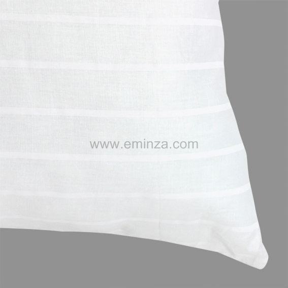 oreiller 60 cm anti acarien duo inuit blanc oreiller traversin eminza. Black Bedroom Furniture Sets. Home Design Ideas
