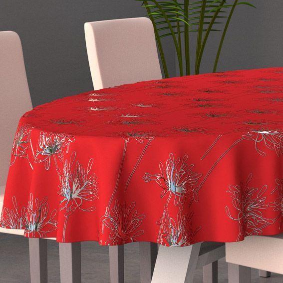 Nappe Ovale L230 Cm Emma Rouge Nappe De Table Eminza