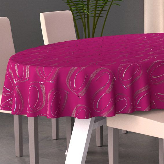 nappe ovale l230 cm jade fuchsia nappe de table eminza. Black Bedroom Furniture Sets. Home Design Ideas