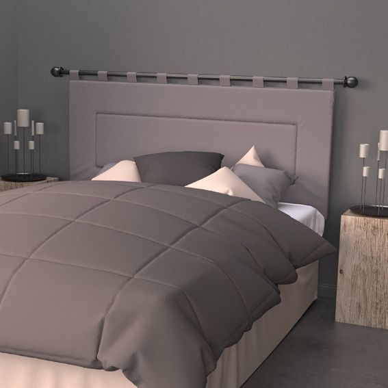 t te de lit 160 cm contemporaine gris t te de lit eminza. Black Bedroom Furniture Sets. Home Design Ideas