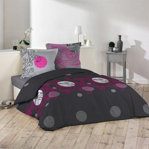 housse de couette et deux taies 240 cm moorea housse. Black Bedroom Furniture Sets. Home Design Ideas