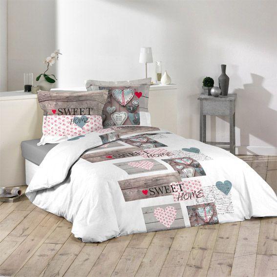 housse de couette et deux taies 200 cm sweet home housse de couette eminza. Black Bedroom Furniture Sets. Home Design Ideas