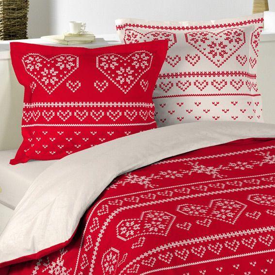 housse de couette et deux taies 240 cm flanelle ambiance. Black Bedroom Furniture Sets. Home Design Ideas