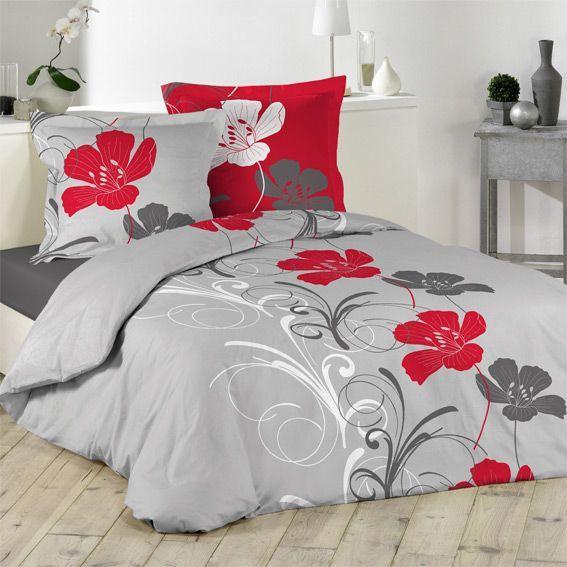 housse de couette et deux taies 240 cm flanelle frise. Black Bedroom Furniture Sets. Home Design Ideas