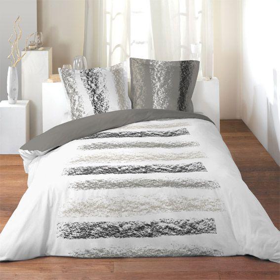 parure de draps 4 pi ces zen chic parure de draps eminza. Black Bedroom Furniture Sets. Home Design Ideas