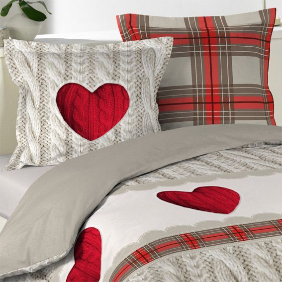 housse de couette et deux taies 240 cm coeur de laine housse de couette eminza. Black Bedroom Furniture Sets. Home Design Ideas