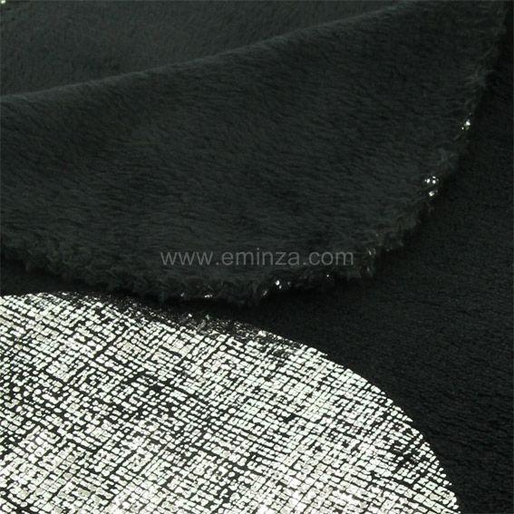 plaid polaire platine noir plaid cocooning eminza. Black Bedroom Furniture Sets. Home Design Ideas
