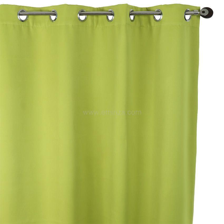 rideau obscurcissant isolant 140 x h260 cm vert rideau. Black Bedroom Furniture Sets. Home Design Ideas
