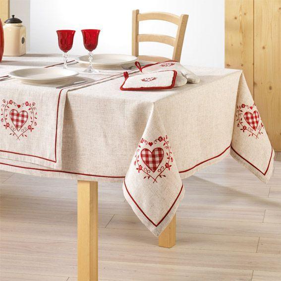 Nappe carr e ad le brod nappe de table eminza for Nappe de table rectangulaire