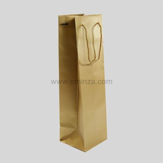 sac cadeau bouteille mat or faire sa deco de noel eminza. Black Bedroom Furniture Sets. Home Design Ideas