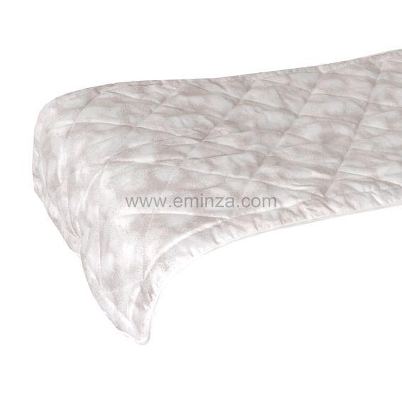 chemin de lit blush ecru couvre lit boutis eminza. Black Bedroom Furniture Sets. Home Design Ideas