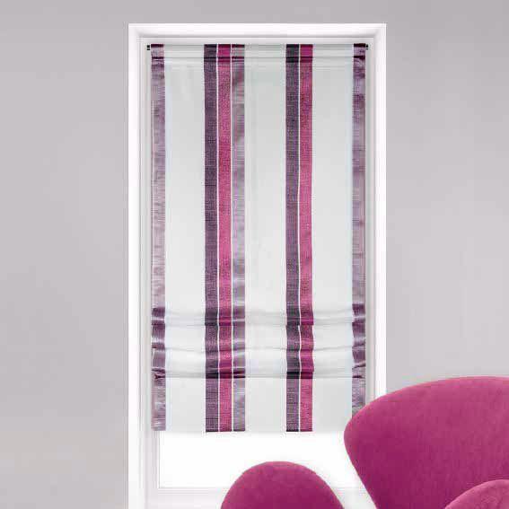 store voilage bateau 60 cm moderny mauve store int rieur eminza. Black Bedroom Furniture Sets. Home Design Ideas