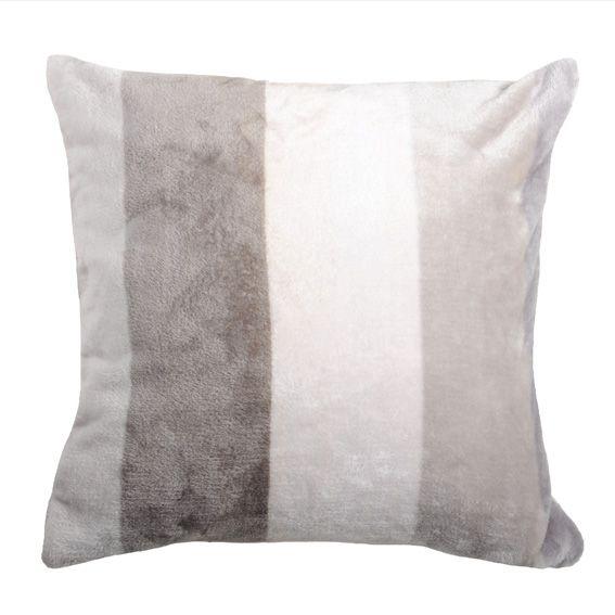 housse de coussin polaire 40 cm caldo blanc et taupe coussin et housse de coussin eminza. Black Bedroom Furniture Sets. Home Design Ideas
