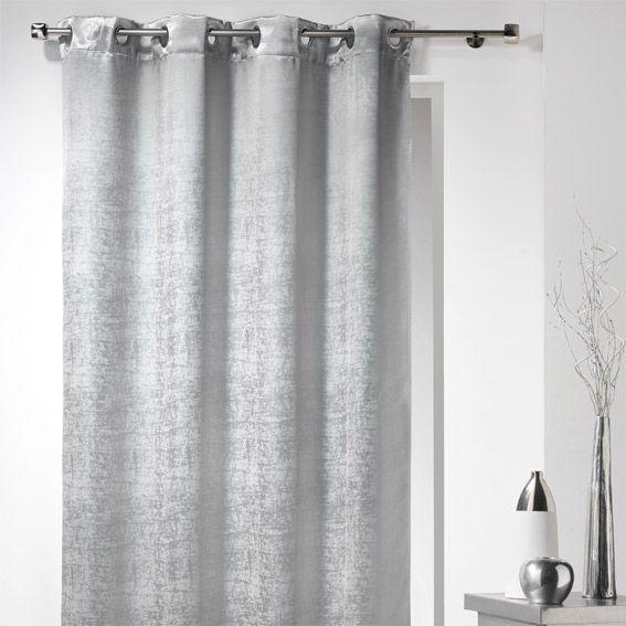 rideau occultant 140 x h240 cm glossy chic perle rideau occultant eminza. Black Bedroom Furniture Sets. Home Design Ideas