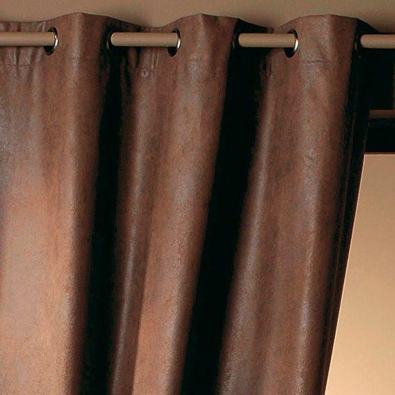 rideau 145 x h260 cm cobra chocolat rideau tamisant. Black Bedroom Furniture Sets. Home Design Ideas