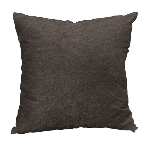 Coussin d houssable effet cuir taupe coussin et housse for Housse coussin cuir