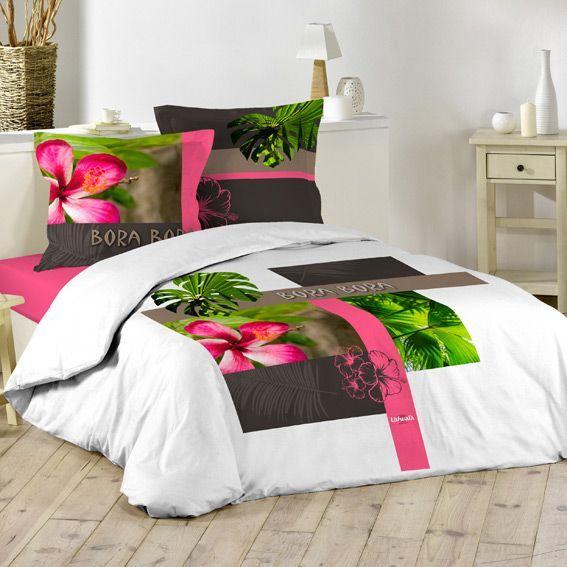 housse de couette 260 240 good hacot et colombier parure de lit housse de couette parure tessa. Black Bedroom Furniture Sets. Home Design Ideas