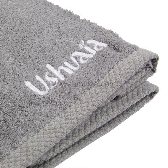 serviette de bain 50 x 90 cm ushuaia gris serviette de bain eminza. Black Bedroom Furniture Sets. Home Design Ideas