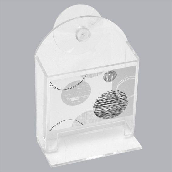 Distributeur de coton tige essentiel gris distributeur for Distributeur coton ventouse