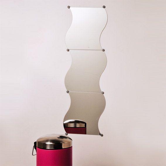 Lot de 3 miroirs vagues miroir eminza for Miroir vague