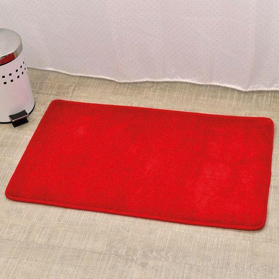 tapis de bain microfibre simply rouge tapis salle de bain eminza. Black Bedroom Furniture Sets. Home Design Ideas