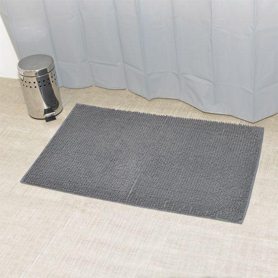 Tapis de bain boules gris tapis salle de bain eminza for Tapis salle de bain gris