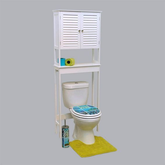 Meuble dessus wc florence blanc dessus wc eminza for Meuble dessus wc bambou