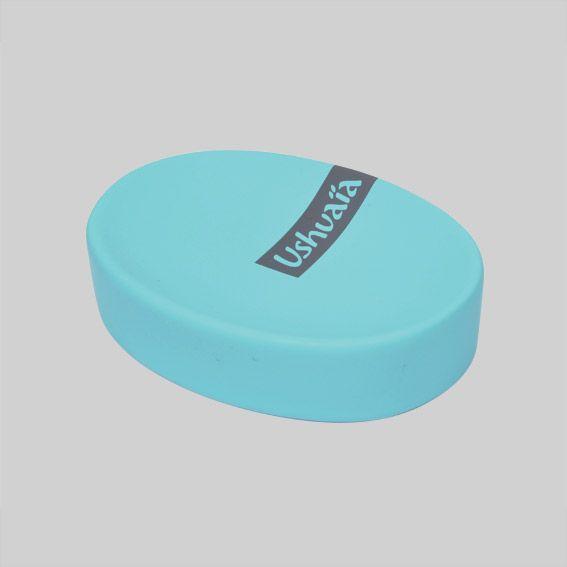 Porte savon ushuaia bleu porte savon eminza for Porte savon salle de bain