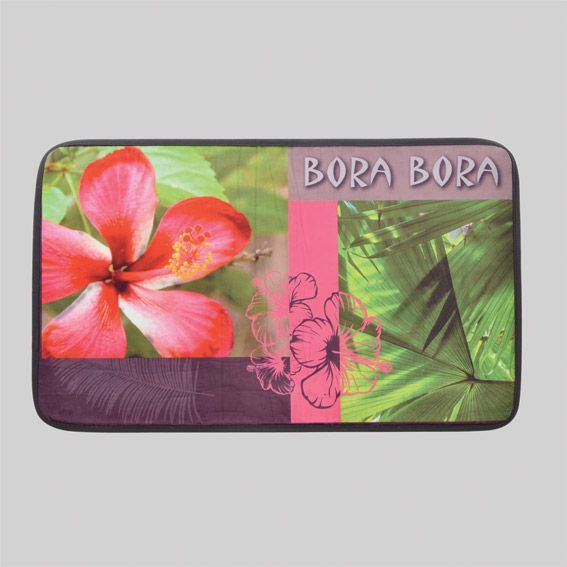 Tapis de bain bora ushuaia rose tapis salle de bain eminza - Tapis salle de bain rose ...