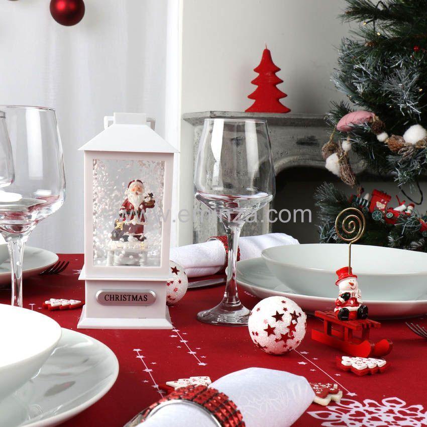 Porte nom ou menu bonhomme de neige sur luge d coration for Decoration porte nom table