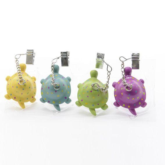 Poids fixe nappe tortues multicolores accessoires nappes eminza - Poids pour nappe ...