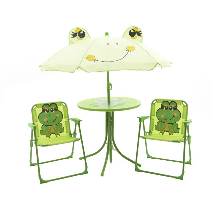 salon de jardin pour enfant grenouille vert mobilier pour enfant eminza. Black Bedroom Furniture Sets. Home Design Ideas