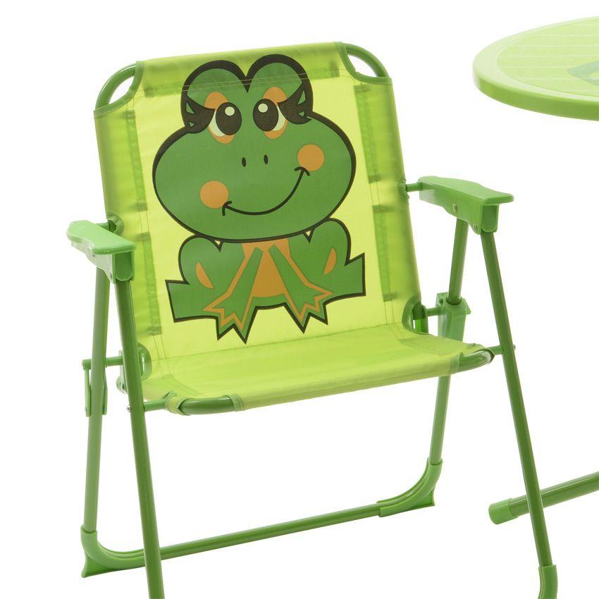 salon de jardin pour enfant grenouille vert mobilier pour enfant eminza. Black Bedroom Furniture Sets. Home Design Ideas