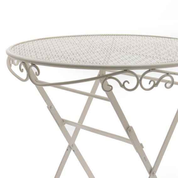 Tavolo da giardino Lucy stile ferro battuto (Ø 60 cm ...